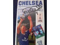 Peter Osgood Chelsea Football Club signed autograph on VHS video tape Chelsea