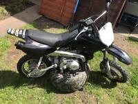 Pit bike 90cc semi auto crf50 size top end rebuilt