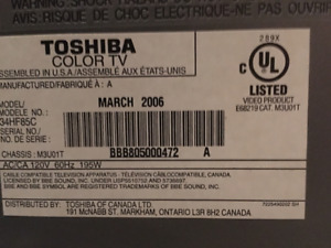 """Toshiba 33"""" (diagonal)"""