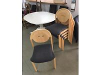 Grey seat cover chairs (5)
