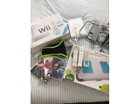 Wii wii fit board and games