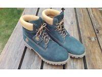 Timberland Boots, Blue Suede, Hardly Warn, As New, Men's Size 12-13