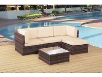 Brown Rattan Outdoor Furniture Set