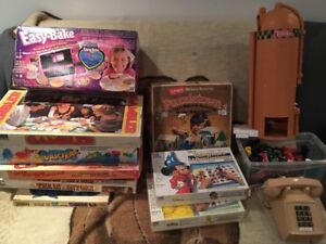 Lot of Vintage Toys, Boardgames & Phone All for $30