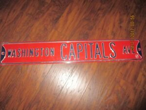 WASHINGTON CAPITALS AVE STREET SIGN.