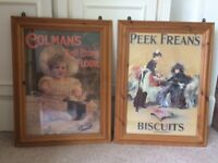 Antique pine picture frames