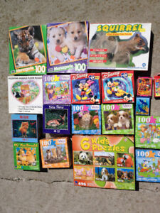 24 Puzzles for kids.