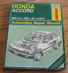 Honda ACCORD service manual Haynes 1984 - 1989 all models