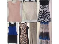 Size 8/10 dresses, jumpsuit and top