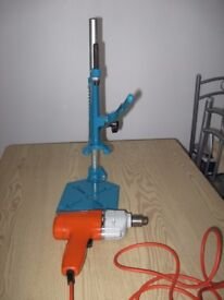 Black & Decker vertical drill stand and drill