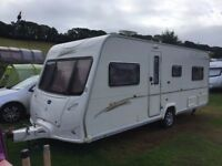 BAILEY SENATOR 5 INDIANA CARAVAN FIXED END BED FULL AWNING MOTOR MOVER £6995 O-N-O