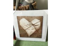 Brand new in packaging heart canvas wall art