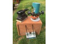 Black and Decker router and a sander for sale