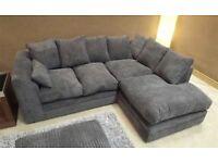 Almost Brand New Grey Fabric Corner Sofa