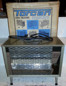 VINTAGE Mint MIB NOS Perfect TORCAN HEATER Boxed
