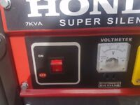 Honda Petrol Generator EMCT 7000 7kw as new only run for 20 minutes to test
