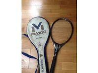Nazka Major tennis rackets with carry case.