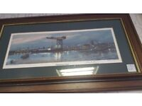 Finnieston Crane Framed Signed Print