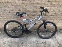 Dunlop DS 26 Full Suspension Mountain Bike. Serviced. Free Lock, Lights & Local delivery.