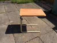 Over bed / chair adjustable table