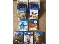 Ps4 games and 2 controllers Delivery