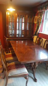 Dining Table and 6 chairs with large side shelve