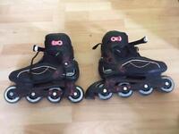 Girls inline roller blades size 7