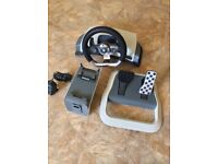 Xbox 360 original steering wheel force feedback with pedals