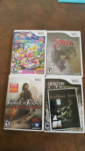 4 wii video games for sale selling as 1 lot