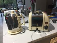 Dualit kettle and toaster for sale - used but in full working order