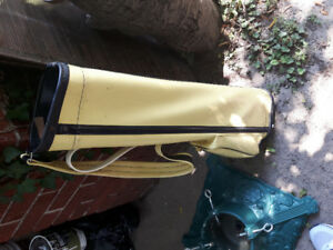 Vintage 70's gold club bag