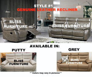 Inventory Clearance on Genuine Leather Recliner Sets