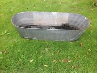 Galvanised garden trough