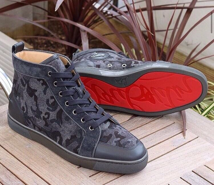 Christian louboutinsin Leicester, LeicestershireGumtree - Camouflage hightop louboutins. Comes with dust bag. Can be posted! On offer! £130!!