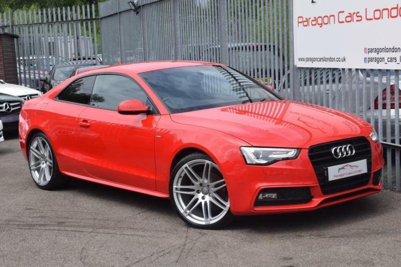 2013 Audi A5 Coupe 20TDi 177 SS Black Edition MT8 Diesel red CVT