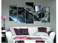 Star Wars Millennium Falcon 5 Piece Canvas Wall Art