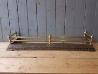 brass and cast iron fire fender