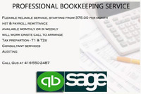 Professional Bookkeeping Service GTA
