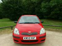 TOYOTA YARIS 1.0L T3 2004 5DOOR 1LADY OWNER FROM NEW MOT TILL 30/01/2018 98000 WARRANTED MILES
