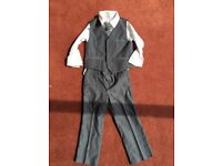 Monsoon aged 3-4 grey suit