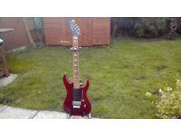 Rare Elektrasonik electric guitar, Floyd rose bridge, 24 fret, reverse headstock