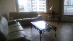 Downtown luxury 3 bd apt. furnished & equipped, balcony, garage