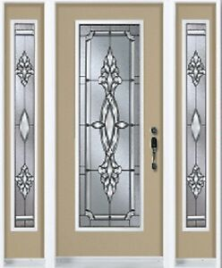 Single Front Entry Door and Two SideLights 3