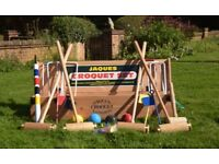 JAQUES TOP-OF-THE-RANGE HAND-MADE CROQUET SET. Current model £499