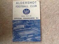 ALDERSHOT V BRADFORD CITY OCTOBER 1964 FOOOTBALL PROGRAMME