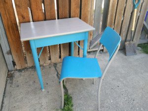 1950's School Desk & Chair