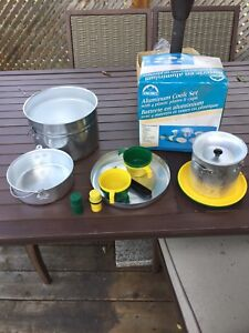 Aluminum cookware for camping