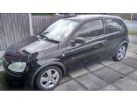 2005 Vauxhall Corsa Energy 16V Twinport 1.2l Petrol Engine - 3 doors, Black, MOT Jan 2018
