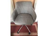 Desk Chair, Grey, Adjustable height, £40 ono.