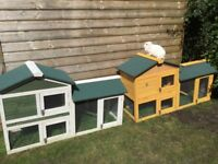 Rabbit hutches 147 cm brand new assembled or flat packed